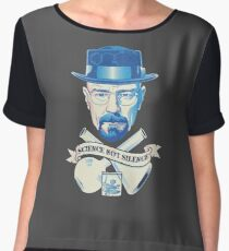 march for science, not silence t shirt Chiffon Top