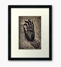 Vitarka Mudra Buddhist hand gesture art photo print Framed Print