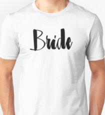 "Cute Wedding, Bridal, Engagement ""Bride"" Unisex T-Shirt"