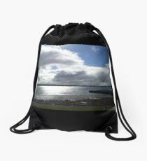 Morning Over Galway Bay Drawstring Bag