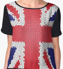 English Flag Mosaic Chiffon Top