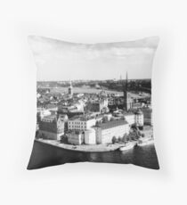 Stockholm B&W Throw Pillow