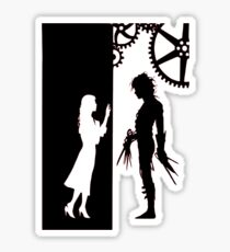 Edwards Scissorhands and Kim Boggs Sticker