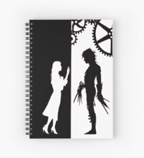 Edwards Scissorhands and Kim Boggs Spiral Notebook