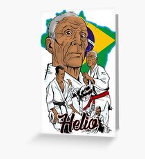 Helio Gracie Greeting Card