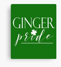 Ginger Pride St. Patricks Day St. Patty Irish Celebration Canvas Print
