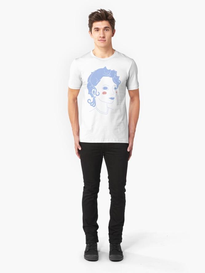Alternate view of Cat Hair Girl Slim Fit T-Shirt