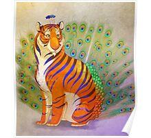 Peacock Tiger Poster