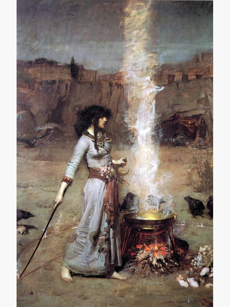 MAGIC CIRCLE - John William Waterhouse  by earthengoods