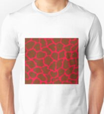 Cadmium Red in Giraffe Pattern  Unisex T-Shirt
