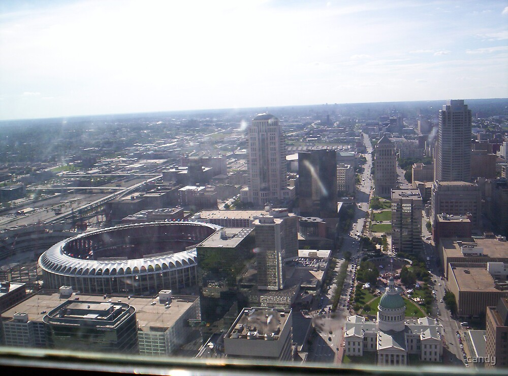 Bush Stadem before it was tore down. picture was taken from the Arch by candy