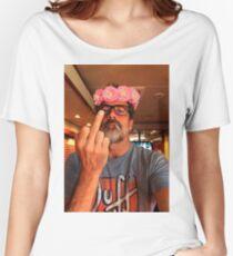 Jeffrey Dean Morgan Flower Crown Women's Relaxed Fit T-Shirt