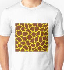 Cadmium Yellow in Giraffe Print Unisex T-Shirt