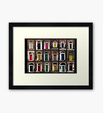 Georgian doors of Dublin Framed Print