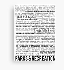 Parks and Recreation Quotes Canvas Print