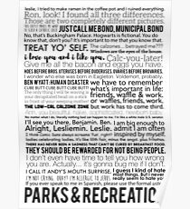 Parks and Recreation Quotes Poster