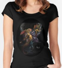 Moth and Flame Women's Fitted Scoop T-Shirt