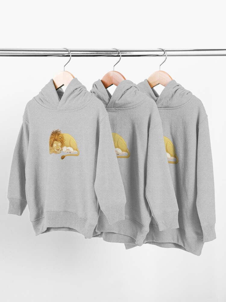 Alternate view of Lion and Lamb Toddler Pullover Hoodie