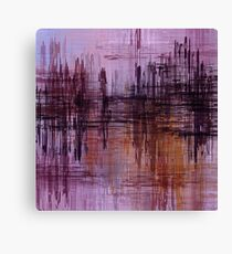 Purple / Violet Painting in Minimalist and Abstract Style Canvas Print