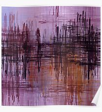 Purple / Violet Painting in Minimalist and Abstract Style Poster