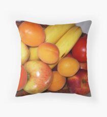 Fresh Fruit - on my bench Throw Pillow