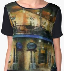 On the Corner of Chartres Women's Chiffon Top