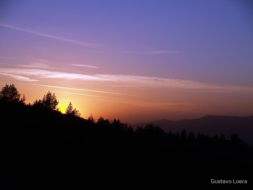 Angeles Crest Sunset  by Gustavo Loera