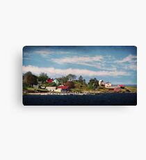 Big Tancook Island Houses Canvas Print