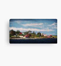 Big Tancook Island Houses Canvas Print