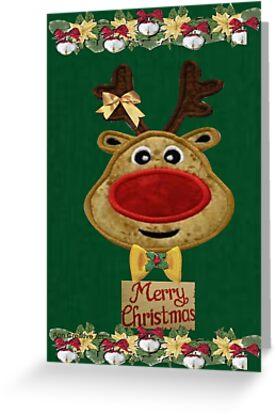 A Reindeer card by Ann12art
