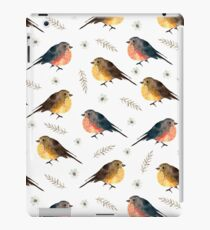 Cute birds. White pattern iPad Case/Skin