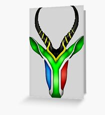 South African Springbok Greeting Card