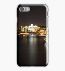River at night with ferry lights iPhone Case/Skin