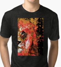 Red Lion Half Face by Sharon Cummings Tri-blend T-Shirt
