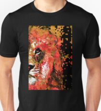 Red Lion Half Face by Sharon Cummings Unisex T-Shirt