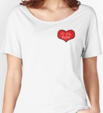 Up For Grabs - White Women's Relaxed Fit T-Shirt