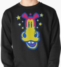 Smiling Cartoon Horse by Cheerful Madness  Pullover