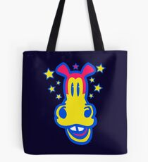 Smiling Cartoon Horse by Cheerful Madness  Tote Bag