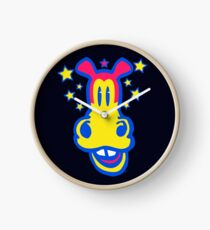 Smiling Cartoon Horse by Cheerful Madness  Clock