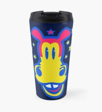 Smiling Cartoon Horse by Cheerful Madness  Travel Mug