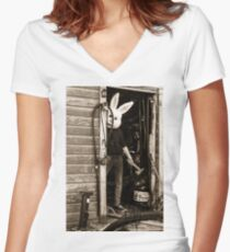 Psycho Bunny Women's Fitted V-Neck T-Shirt