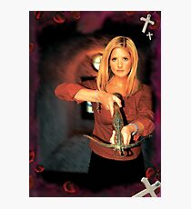 Buffy Against vampires Photographic Print