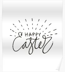 Easter watercolor lettering Poster
