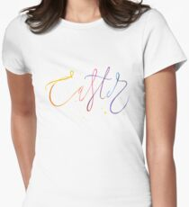 Easter watercolor lettering Women's Fitted T-Shirt