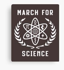 march for science t shirt  earth Canvas Print