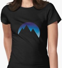 Minimalistic Mountain Peaks Womens Fitted T-Shirt