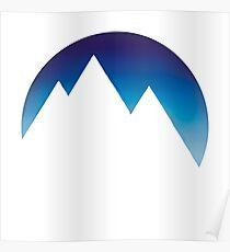 Minimalistic Mountain Peaks Poster