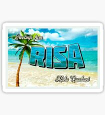 Greetings From... Risa Sticker