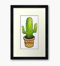 Cute Mexican Cactus Framed Print