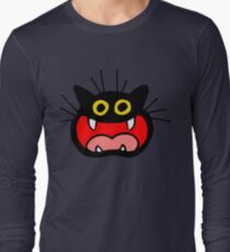 Crazy Cat by Cheerful Madness!! Long Sleeve T-Shirt